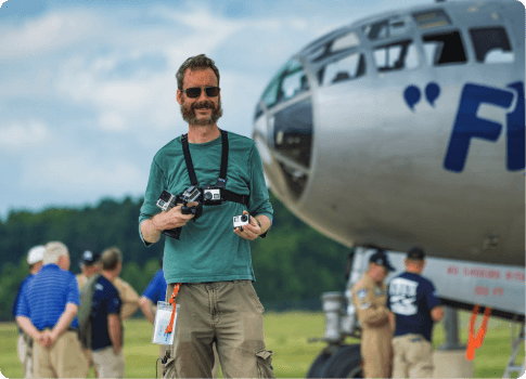 Steve Thorne from Flight Chops with camera