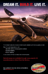 Print ad featuring Hartzell Propellers for kitbuilders