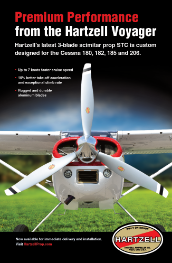 Print ad featuring Hartzell Voyager propeller
